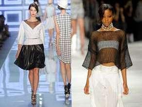 Прозрачная одежда и прозрачные вставки