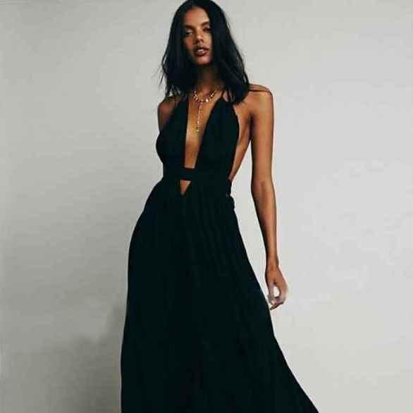 Платье с открытой спиной 12