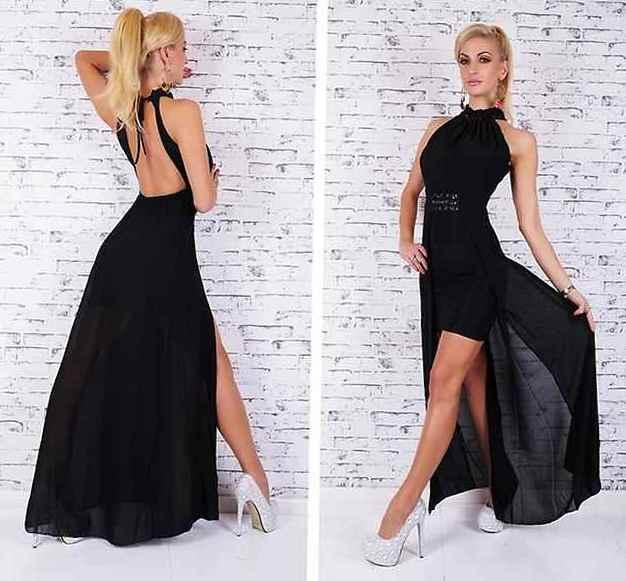 Платье с открытой спиной 11