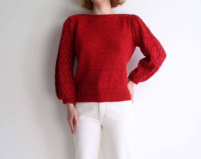 С чем носить женский красный свитер, фото 9 стильных луков
