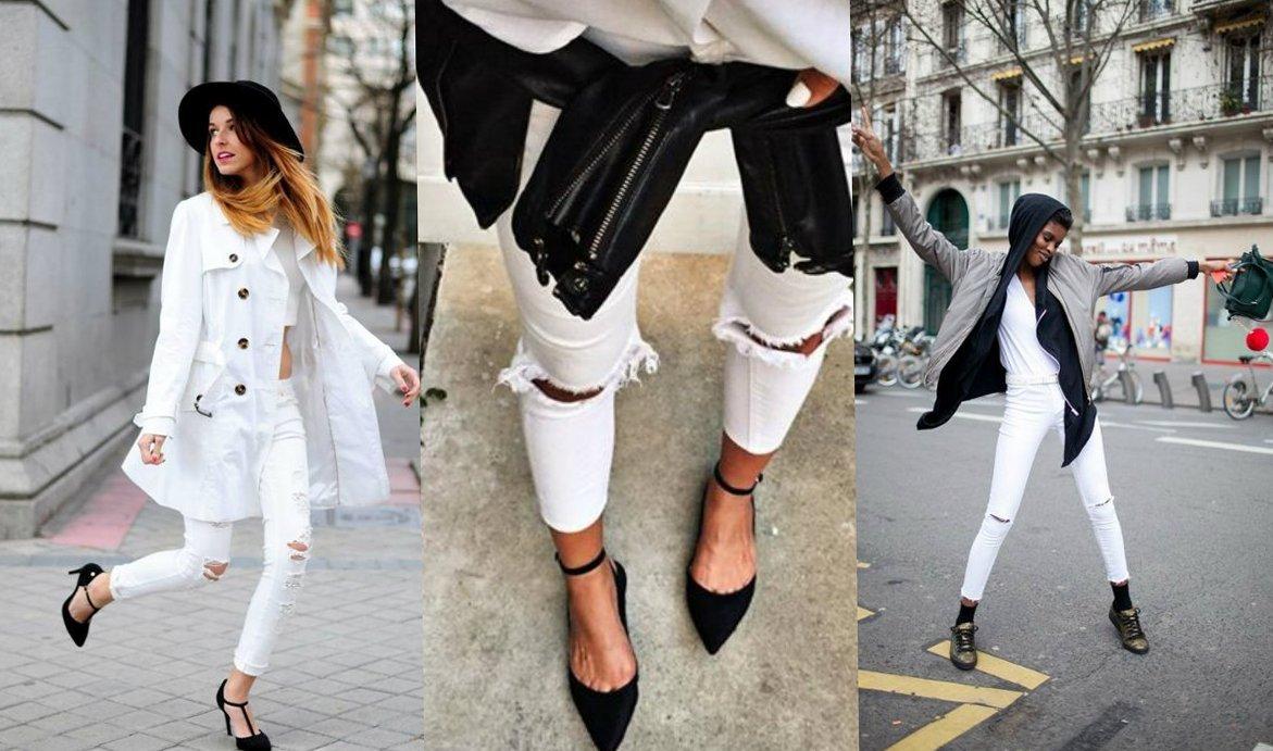 Как носить рваные джинсы