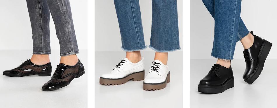 Виды женской обуви