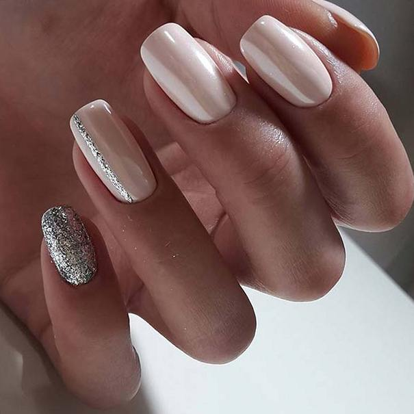 Свадебный дизайн ногтей