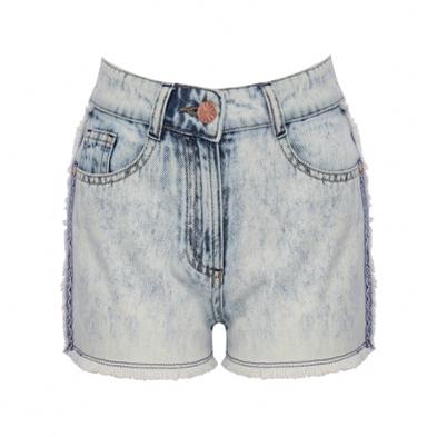 Джинсовые шорты на лето. Мраморность