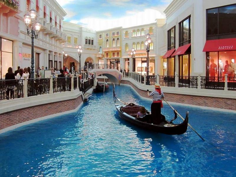 Торговые центры мира. Шоппес Гранд-канал, Лас-Вегас