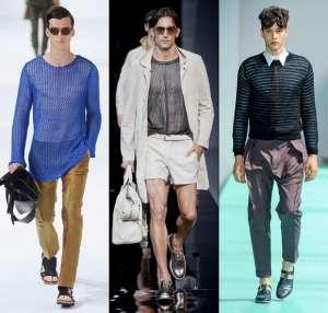 Модные мужские тренды весенне-летнего сезона 2013 - прозрачные ткани и прозрачный трикотаж 1