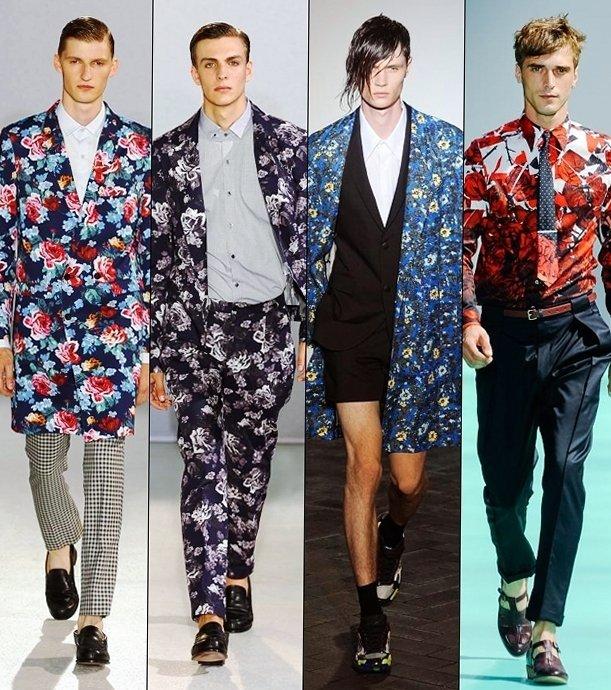 Цветочные принты для уверенных в себе мужчин
