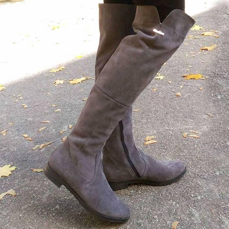 Модные сапоги ботфорты