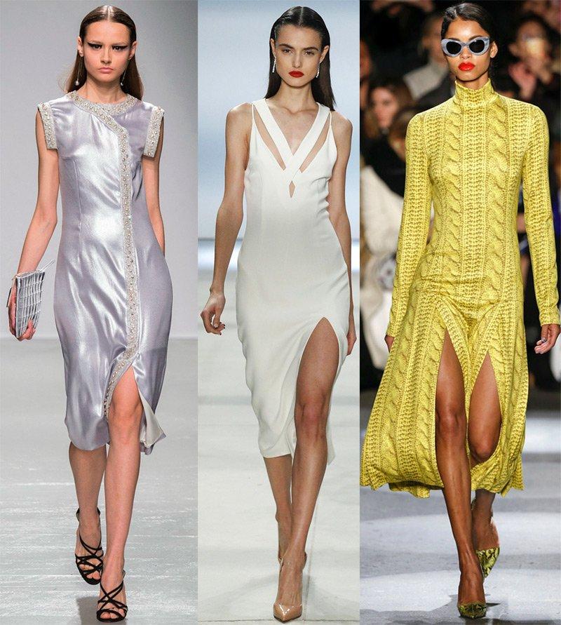 длинные разрезы на платьях