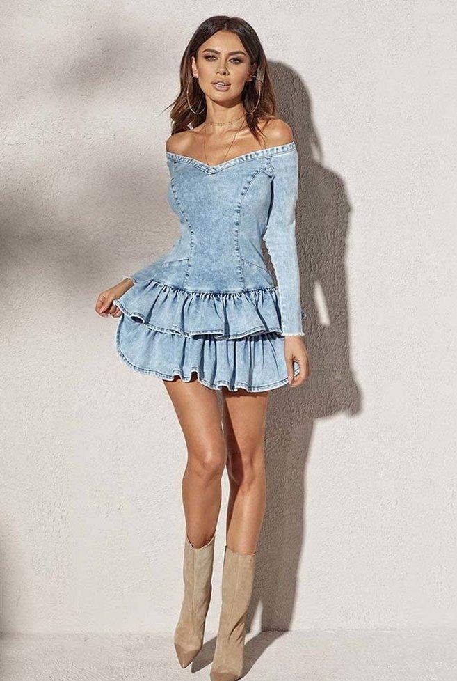 Маленькое джинсовое платье