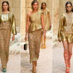 Модный тренд весны – цвет золотистый металлик