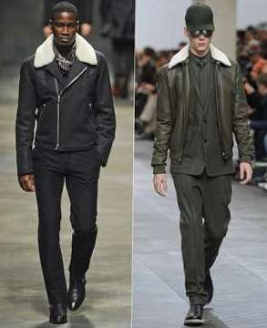 Мужские куртки с подкладкой из овечьей шерсти «ширлинг»