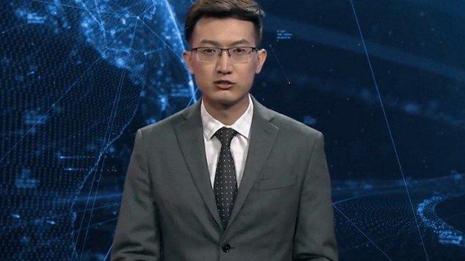 Pervyiy na planete robot vedushhiy telekanala debyutiroval v Kitae