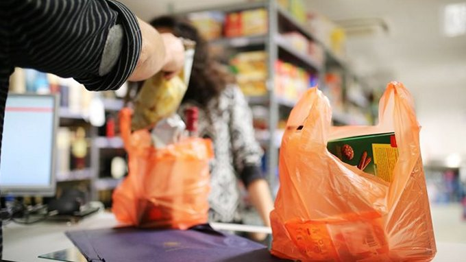 Покупка продуктов в супермаркете