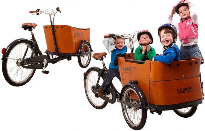 Грузовой велосипед - семейный велосипед.