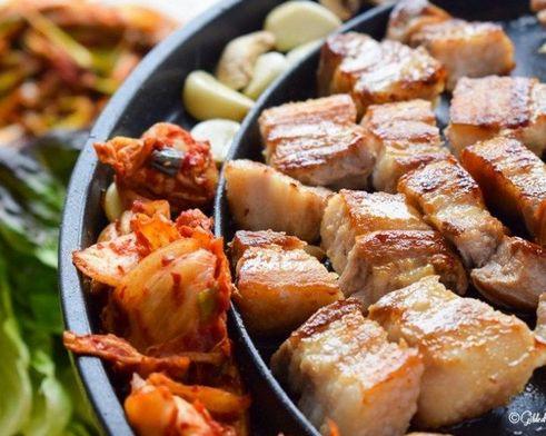 Корейская кухня. Samgyeopsal