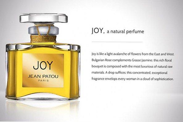 Самые популярные духи. Топ 5. Joy – Жан Пату