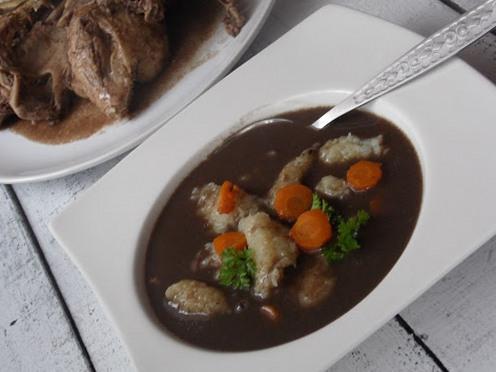 Польская кухня. Чарнина с овощами