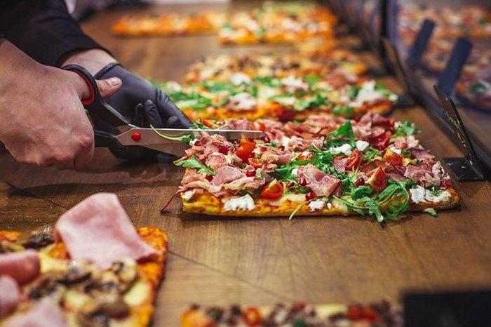 Виды пиццы. Pizza al taglio