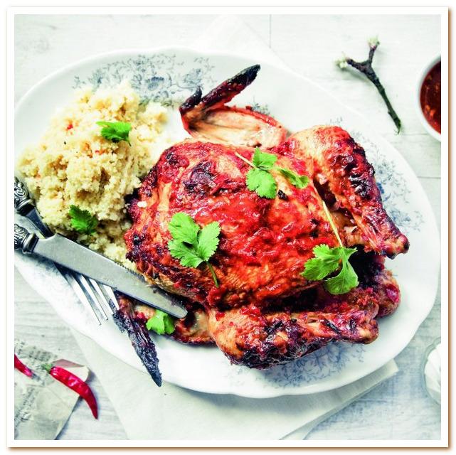 Тунисская кухня. Курица фаршированная кориандром