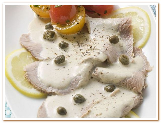 Тунисская кухня. Телятина с каперсами