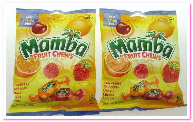 Лучшие конфеты 1950-х годов. No 6. Жевательные конфеты с фруктами Мамба
