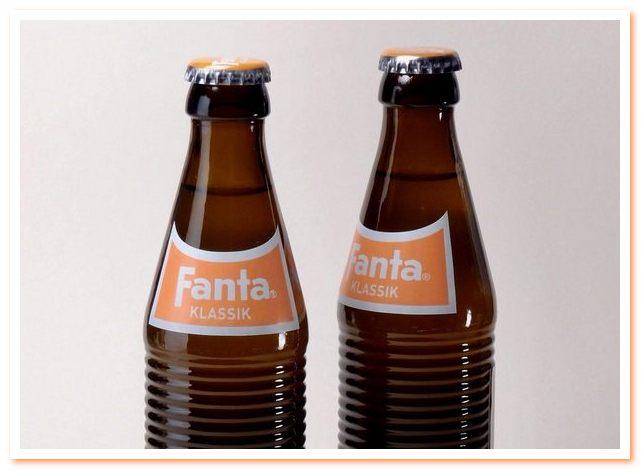 Напиток Фанта. Ретро бутылки