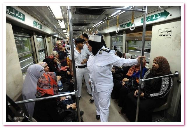 Отдых в Египте. Женский вагон метро