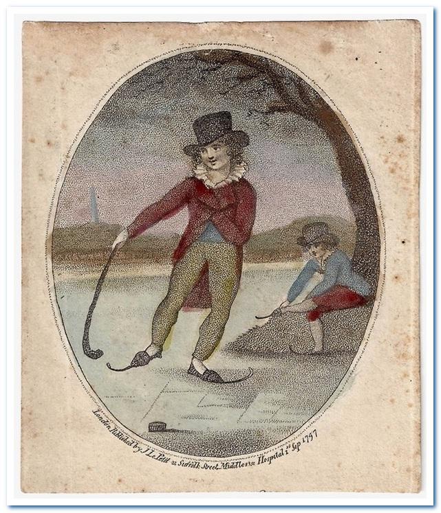 Подлинная история хоккея с шайбой. Гравюра с изображением игры в хоккей