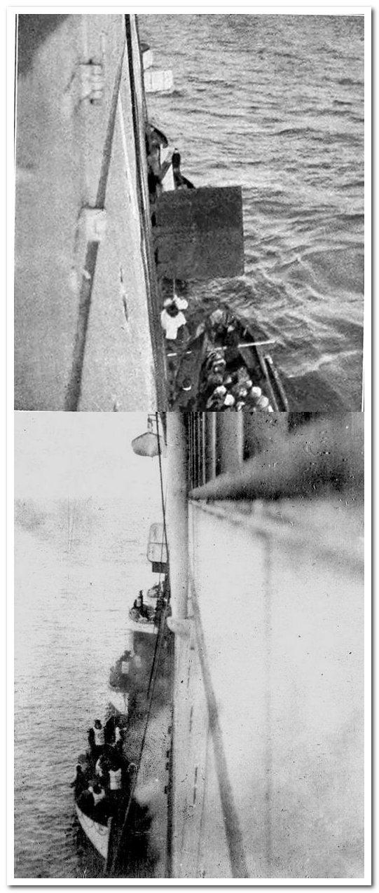 Доставка выживших на борт парохода Карпатия