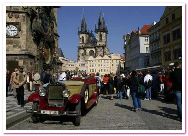 Достопримечательности Праги автомобиль