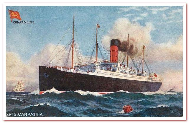 Пароход Карпатия принадлежал Counard Line, вечному конкуренту White Star Line, которой принадлежал Титаник