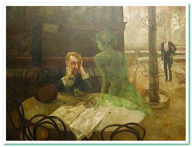 Пьющий абсент 1902 Виктор Олива