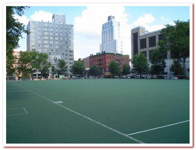 Район Челси Нью-Йорк. Chelsea Park