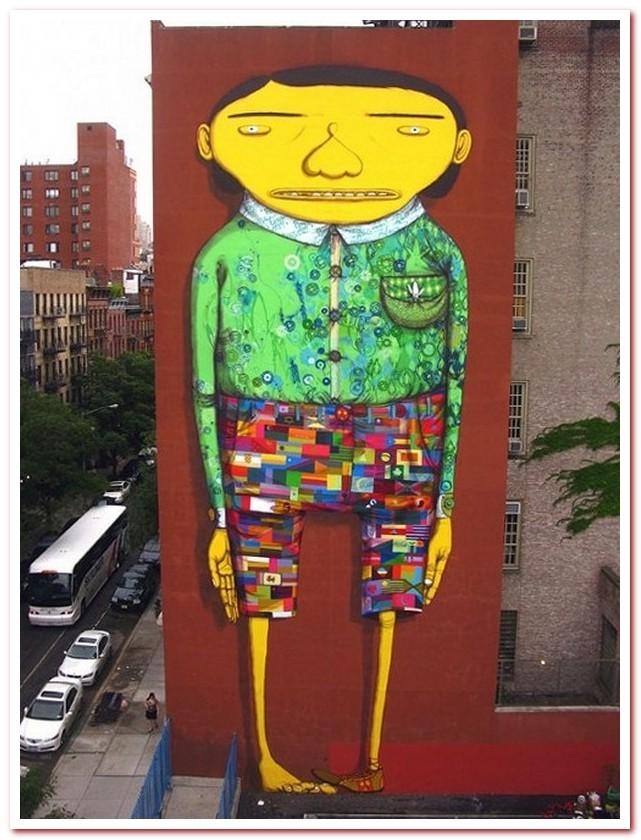 Район Челси Нью-Йорк. Гигантская фреска