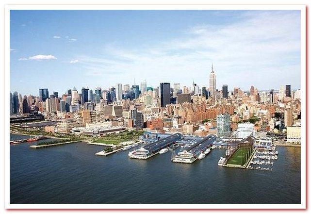 Район Челси Нью-Йорк. Общий вид