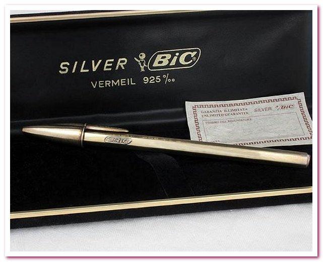 Шариковая ручка BIC Silver Anniversary Pen в памятной упаковке 1975 г.