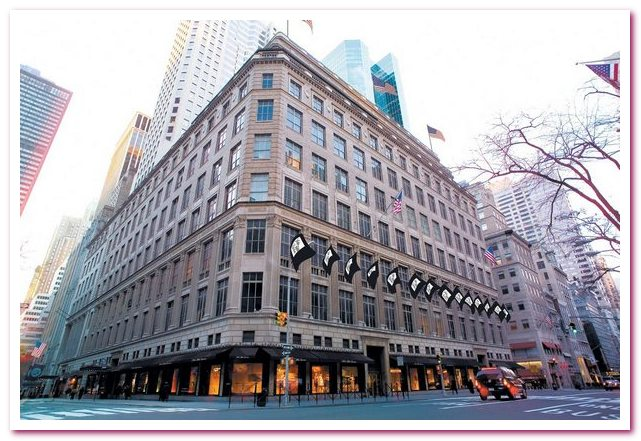 Универмаги Нью-Йорка. Флагманы розничной торговли. Saks Fifth Avenue