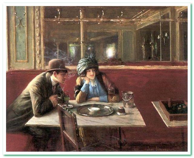 В кафе Жан Беро