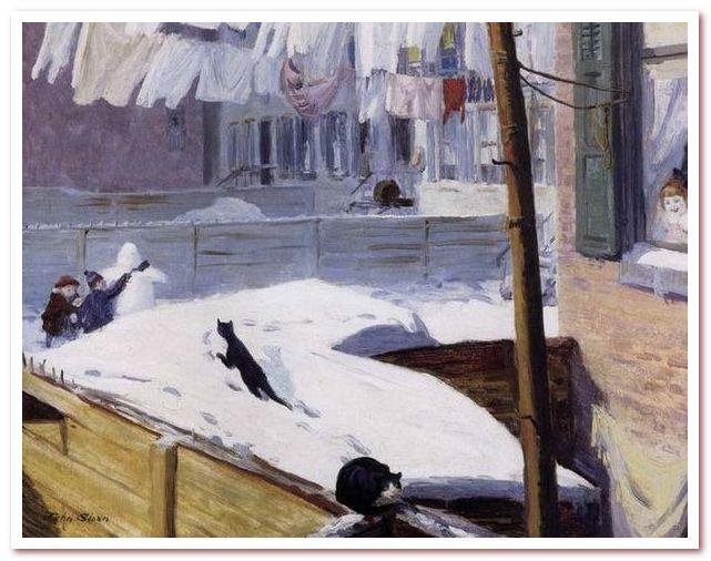 Джон Слоун. Задворки, Гринвич-Виллидж, 1914