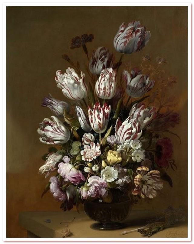Голландские тюльпаны. Натюрморт с цветами. Ганс Боллонжер, 1639 г.