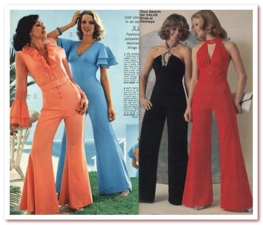 Мода 70-х. Комбинезоны