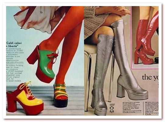 Мода 70-х. Обувь на платформе