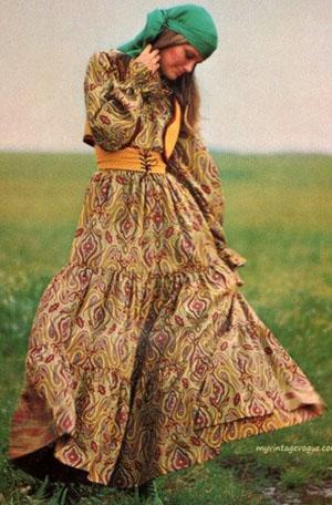 Мода 70-х. Платья макси