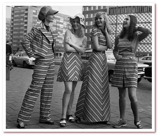 Мода 70-х. Полосатые узоры