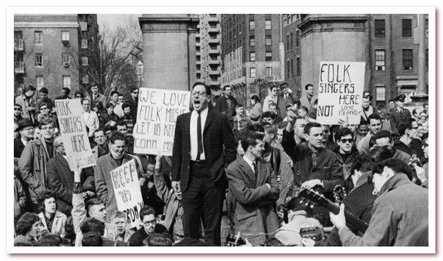 Вашингтон-сквер 9 апреля 1961