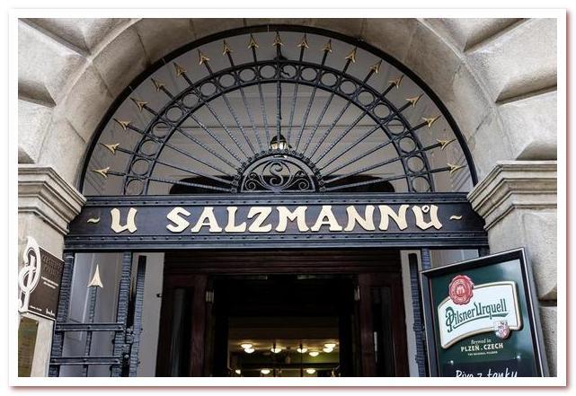 Достопримечательности Чехии. U Salzmannu