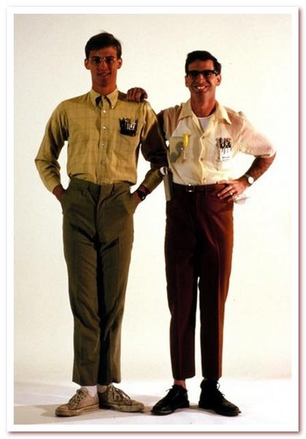 Мода 80-х. Короткие штанины