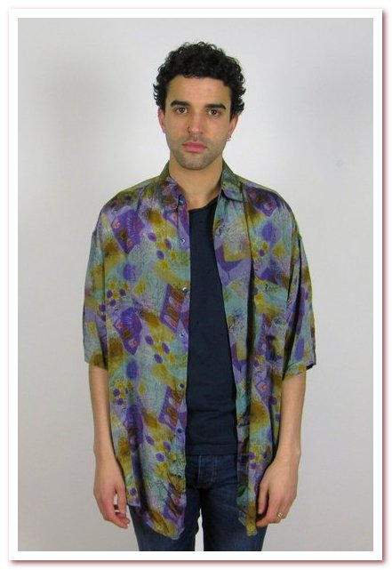 Мода 80-х. Шелковая рубашка