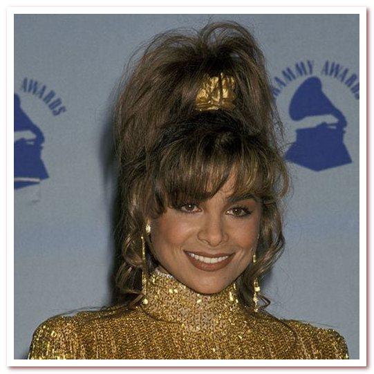 Мода 80-х. Широкие резинки для волос
